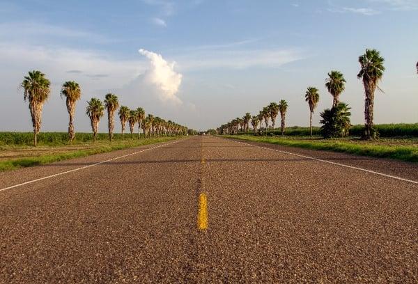 Road to the Texas-Mexico border