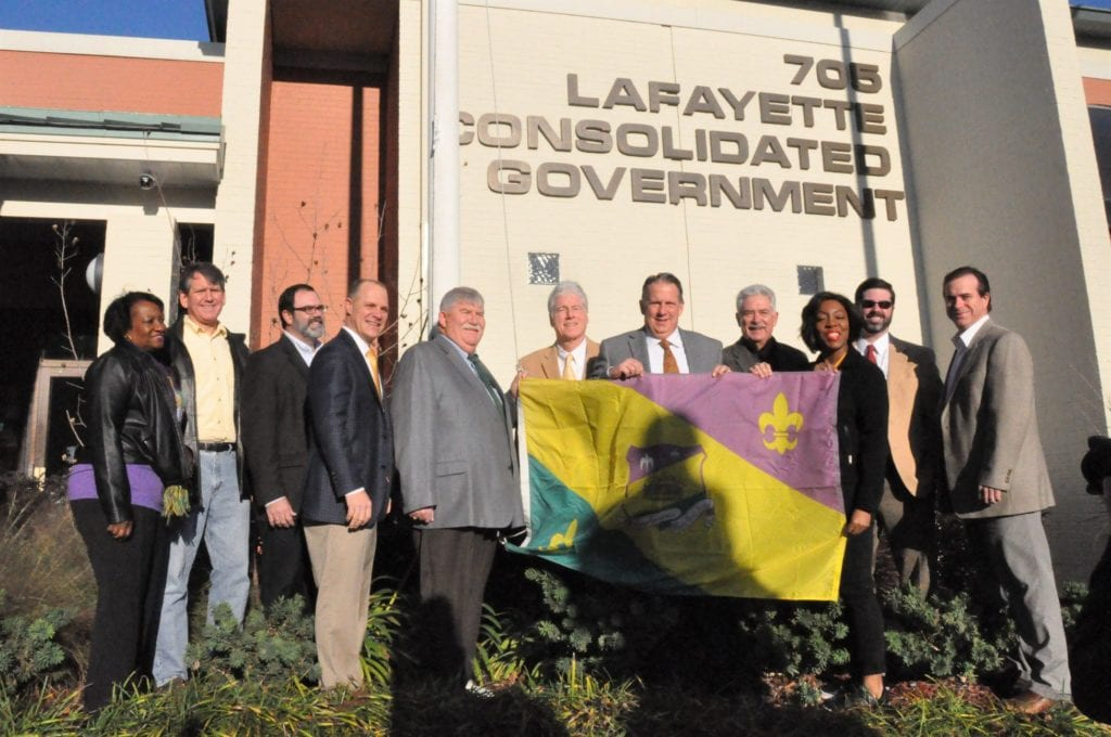 Mardi-Gras-Flag Lafayette Consolidated Government